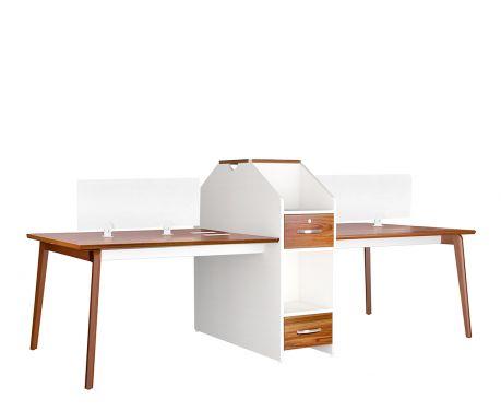 Psací stůl pro 4 pracovní místa EVOLUTIO B305-4