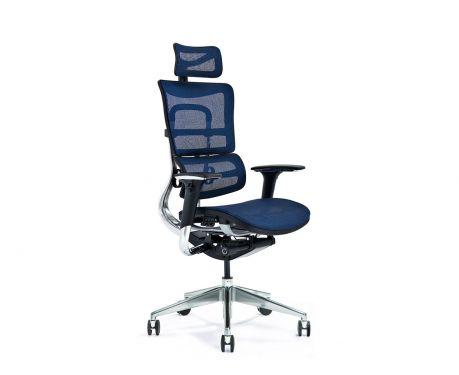 Ergonomické kancelářské křeslo ERGO 800-M tmavě modré