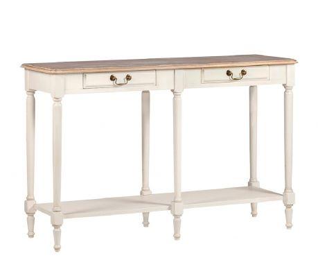 Konzolový stolek FEDER ořech / ecru