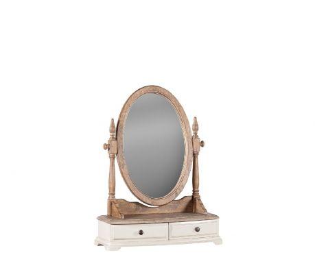 Zrcadlo SPIRO ořech / ecru