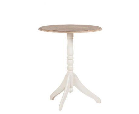Odkládací stolek BRAQUE ořech / ecru
