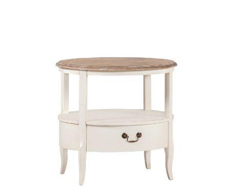Odkládací stolek BARILLE ořech / ecru