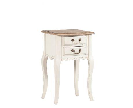 Odkládací stolek COTTET ořech / ecru