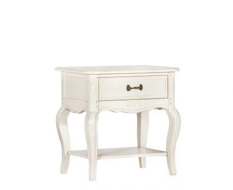 Noční stolek SOPHIE blanc